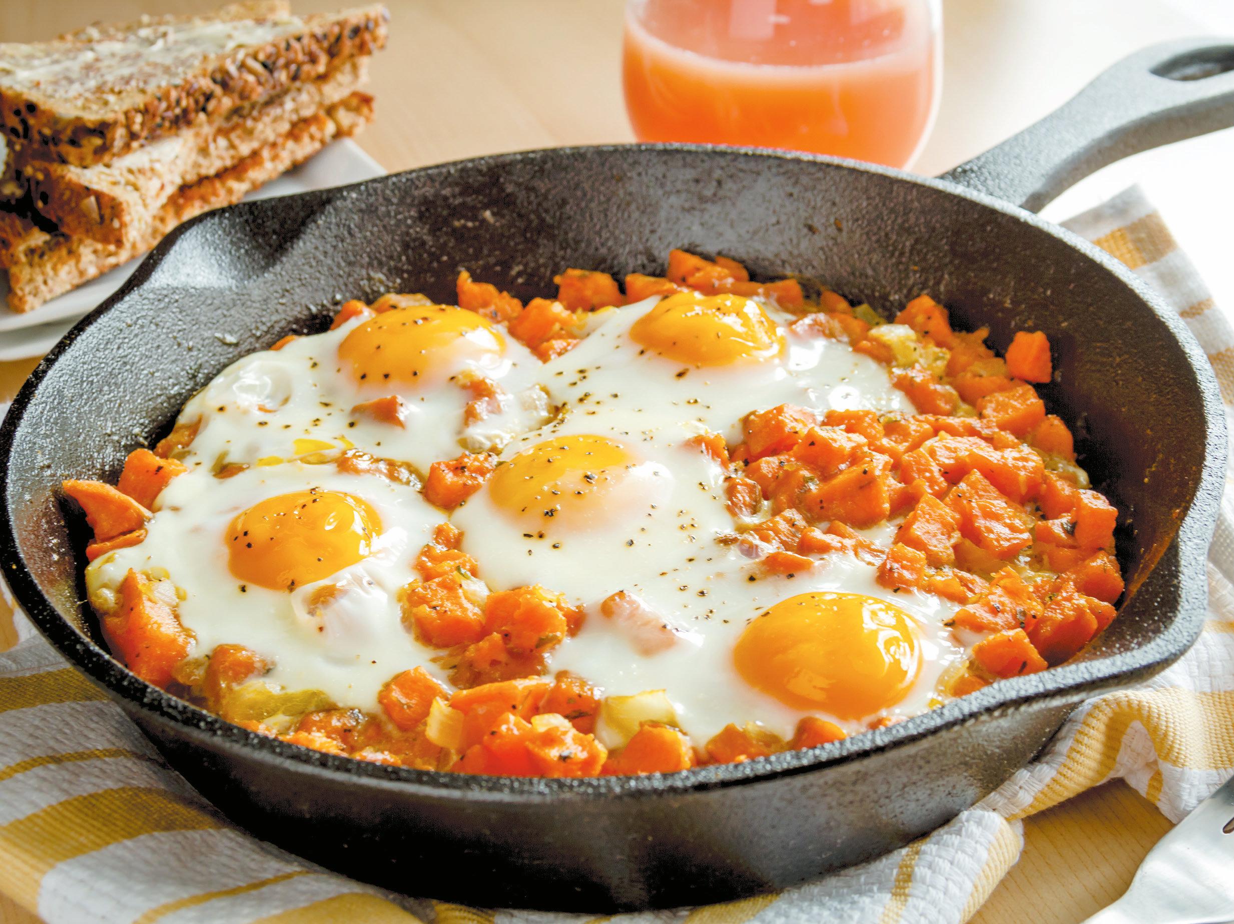 Ovos com batata-doce: uma receita prática… e deliciosa!