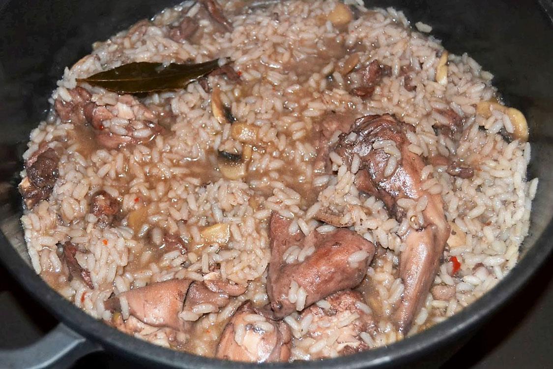 A minha receita favorita de arroz de coelho
