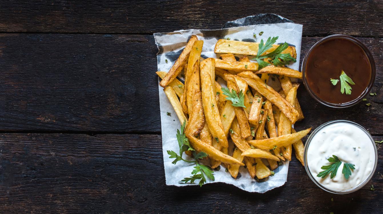 Receita dupla de molhos para batatas fritas