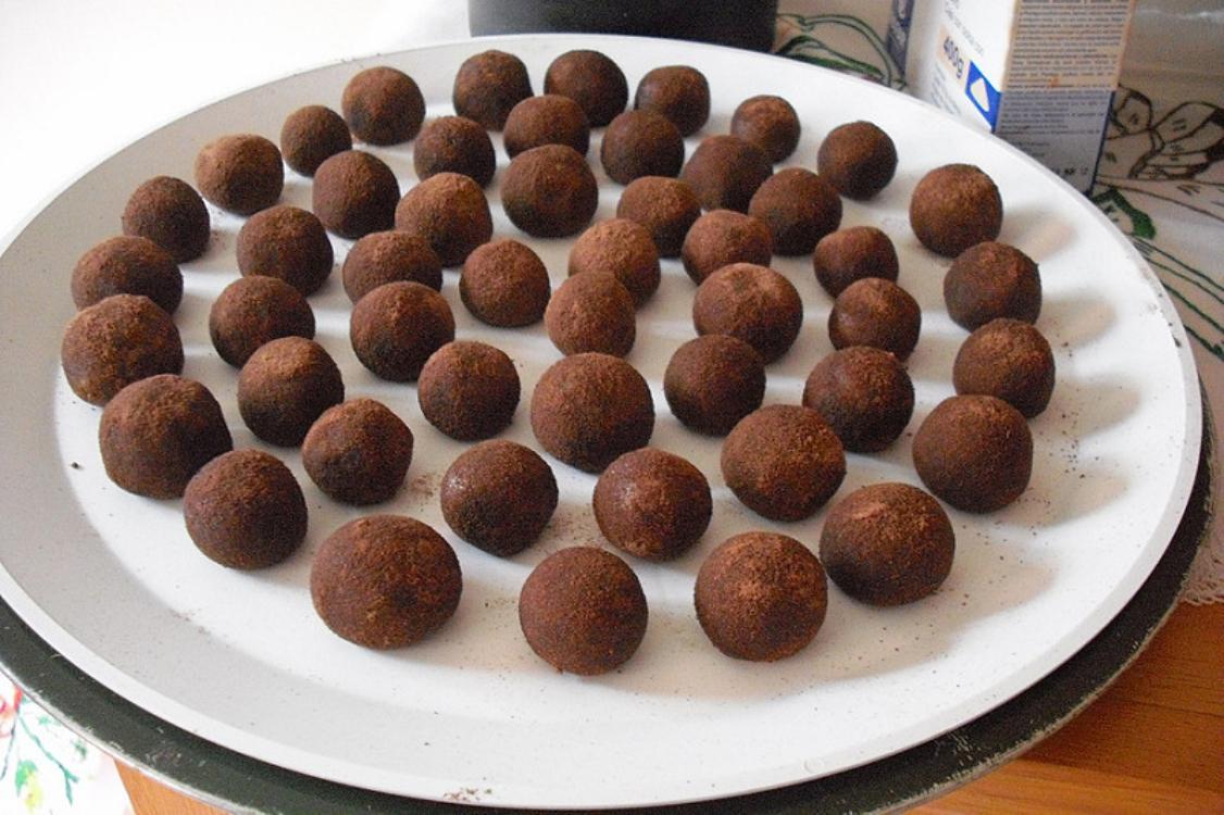 Receita deliciosa de trufas de chocolate