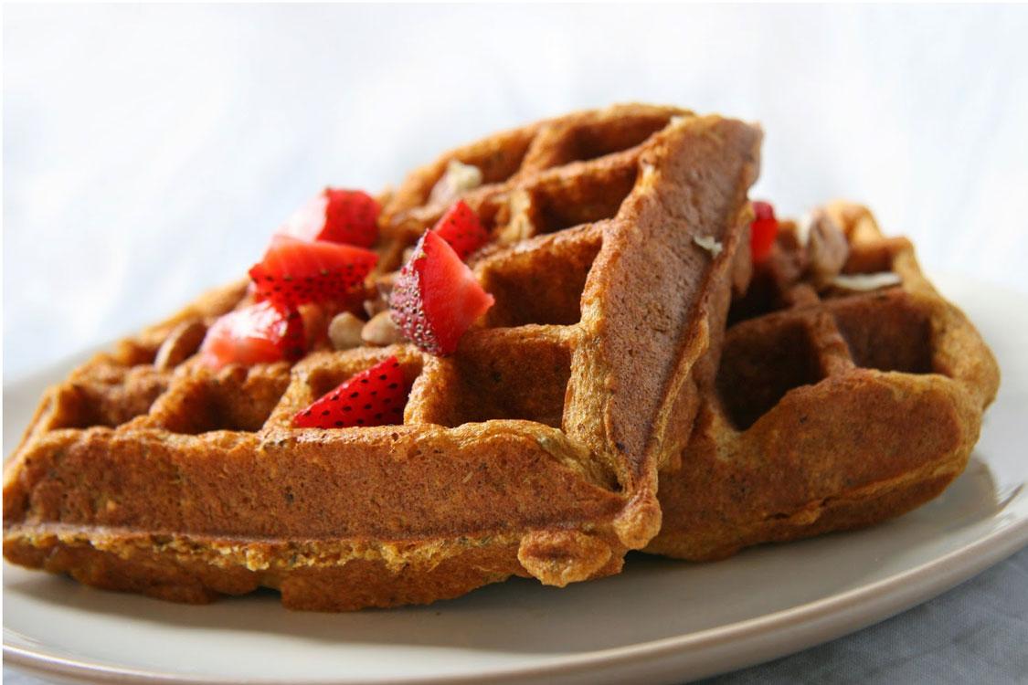 Receita de waffles saudáveis