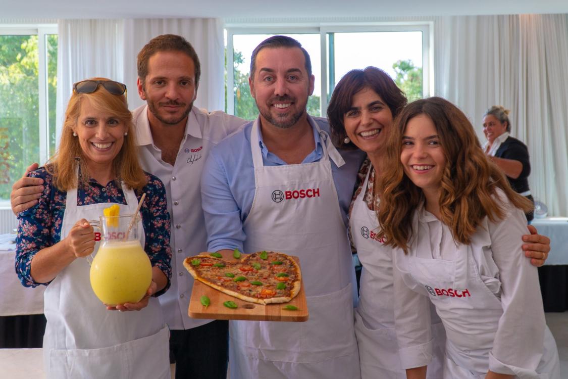 Passei uma tarde muito divertida a cozinhar em equipa e com a Bosch!