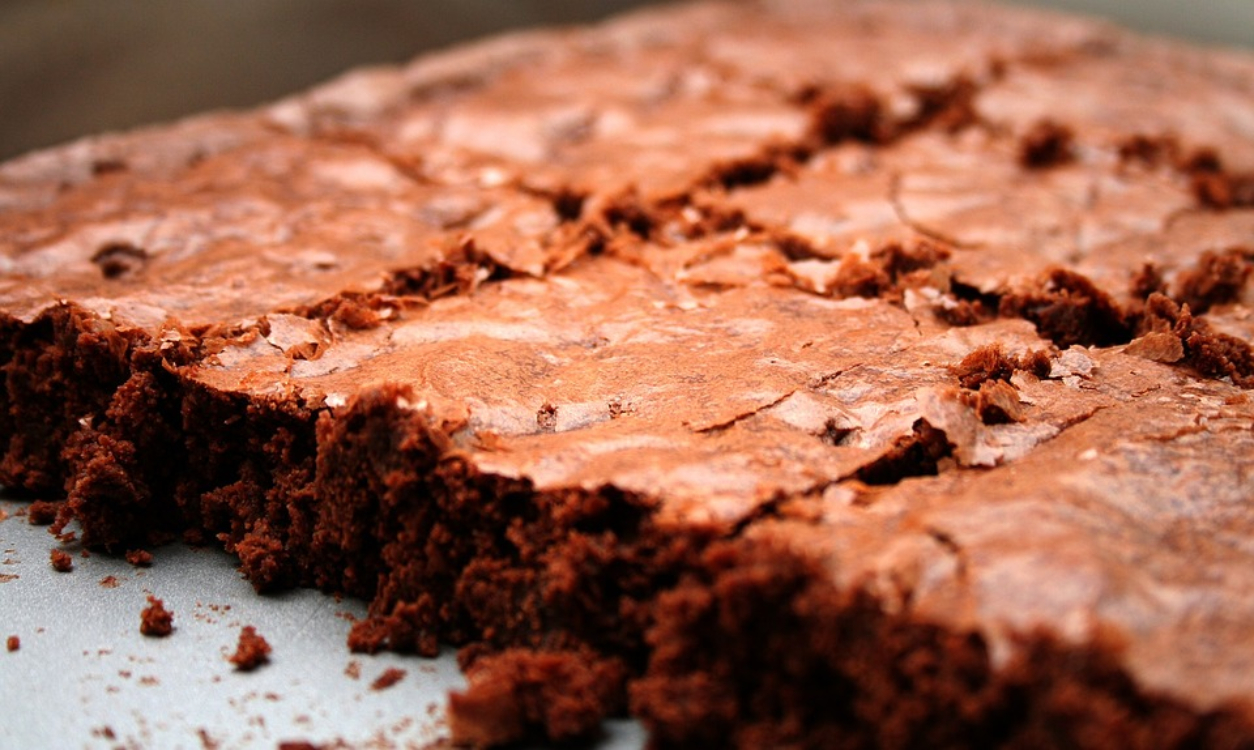 Receita de brownies de chocolate sem glúten