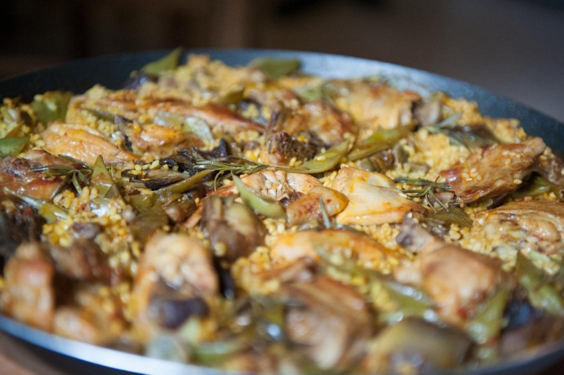 Receita de paella de frango