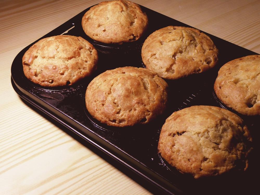 Muffins de castanha e mel