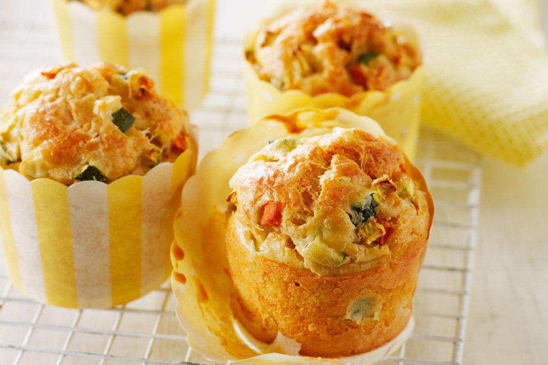 Receita de muffins de legumes