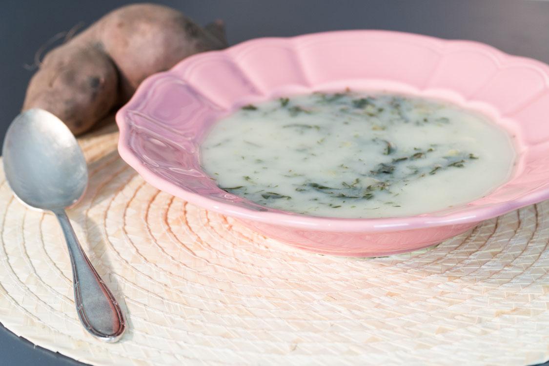 Caldo verde com batata-doce