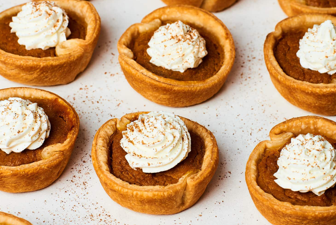 Mini tartes de abóbora: só precisa de 5 ingredientes!