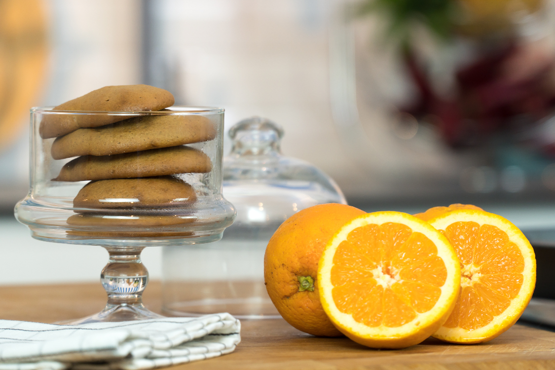 Bolachas de laranja com farinha de centeio
