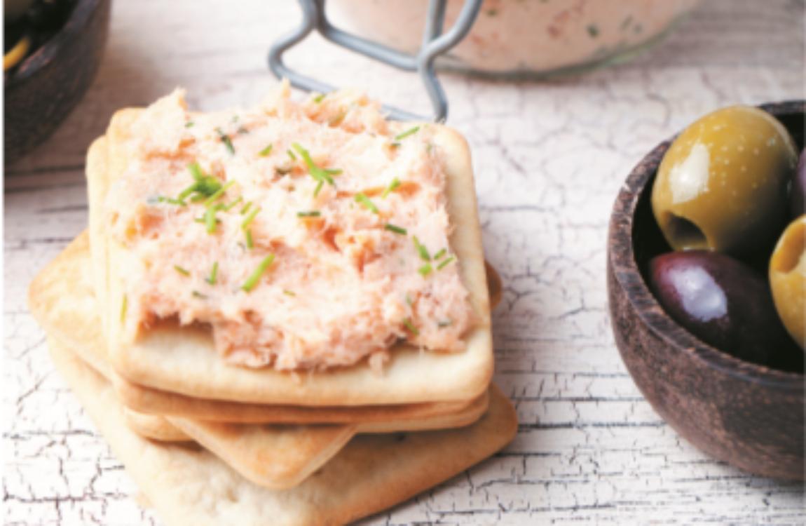 Mousse de salmão e queijo