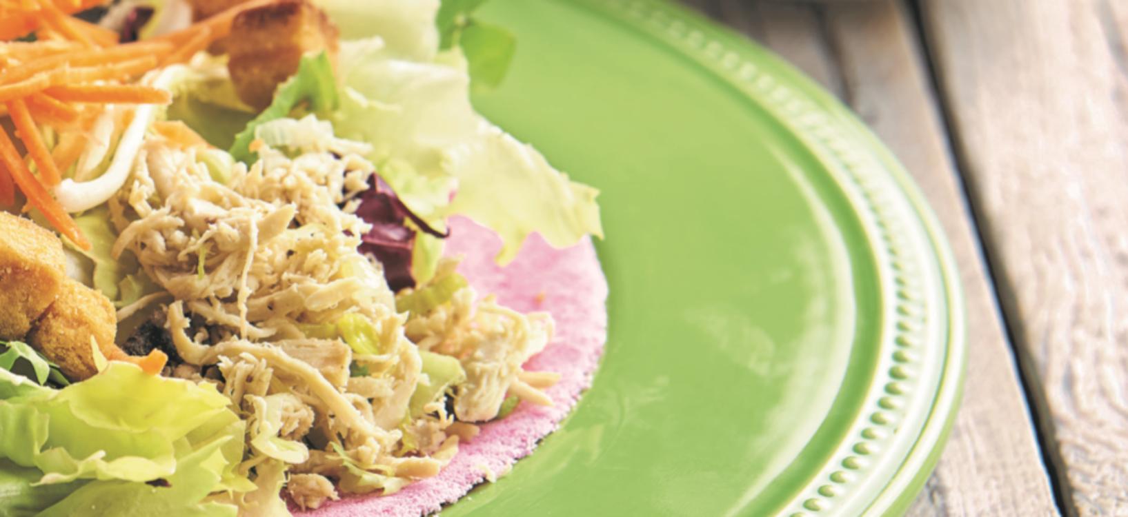 Tapioca de salada de frango