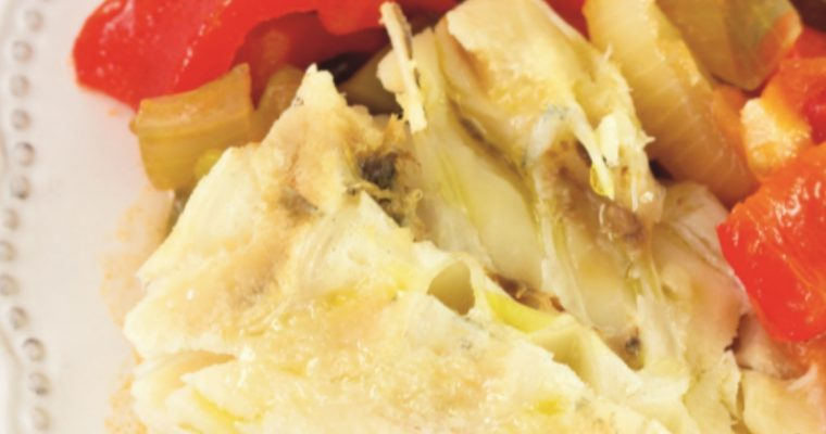 Bacalhau com pimentos: só a apresentação já é de abrir o apetite!