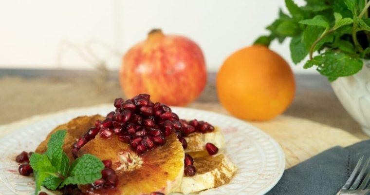 Laranja com canela e romã: uma sobremesa de fim de ano!