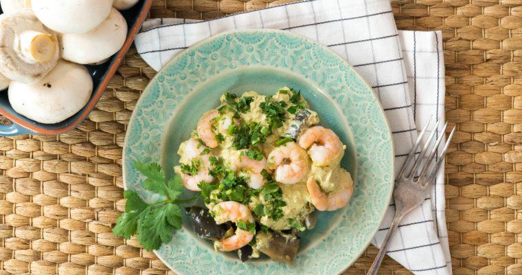 Caril verde de cogumelos e gambas: para uma refeição picante… e saborosa!