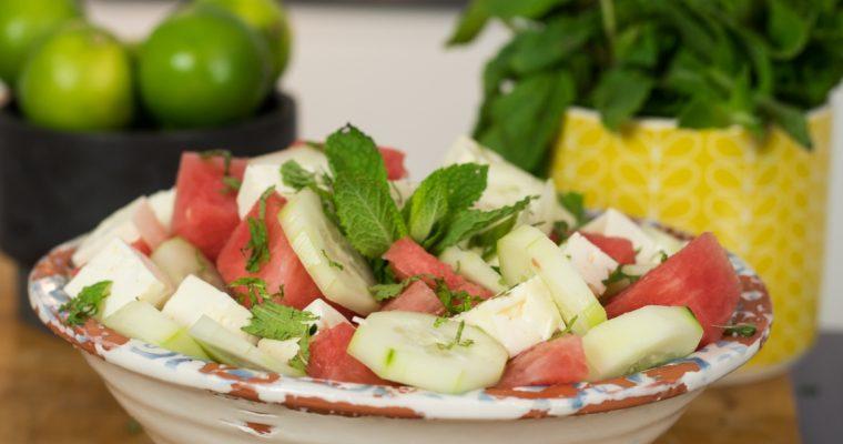 Salada de melancia com queijo feta: para um verão muito mais saudável!