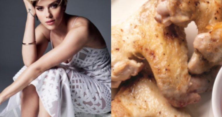 """Scarlett Johansson é """"viciada"""" em asas de frango: conheça esta receita!"""