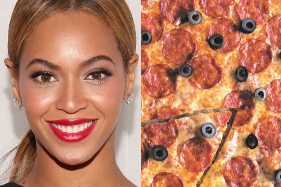 Beyoncé adora pizza! Fique com esta receita de pepperoni e azeitonas