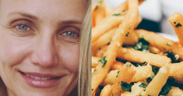 """Cameron Diaz é """"viciada"""" em batatas fritas: conheça esta receita!"""