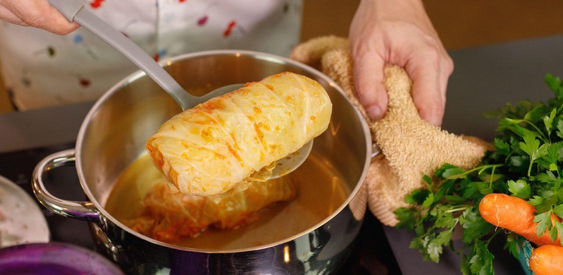 A minha receita favorita de salsichas com couve-lombarda!