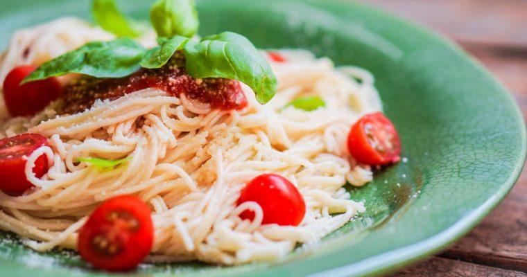 Esparguete com molho de tomate, o preferido da Teresa Guilherme