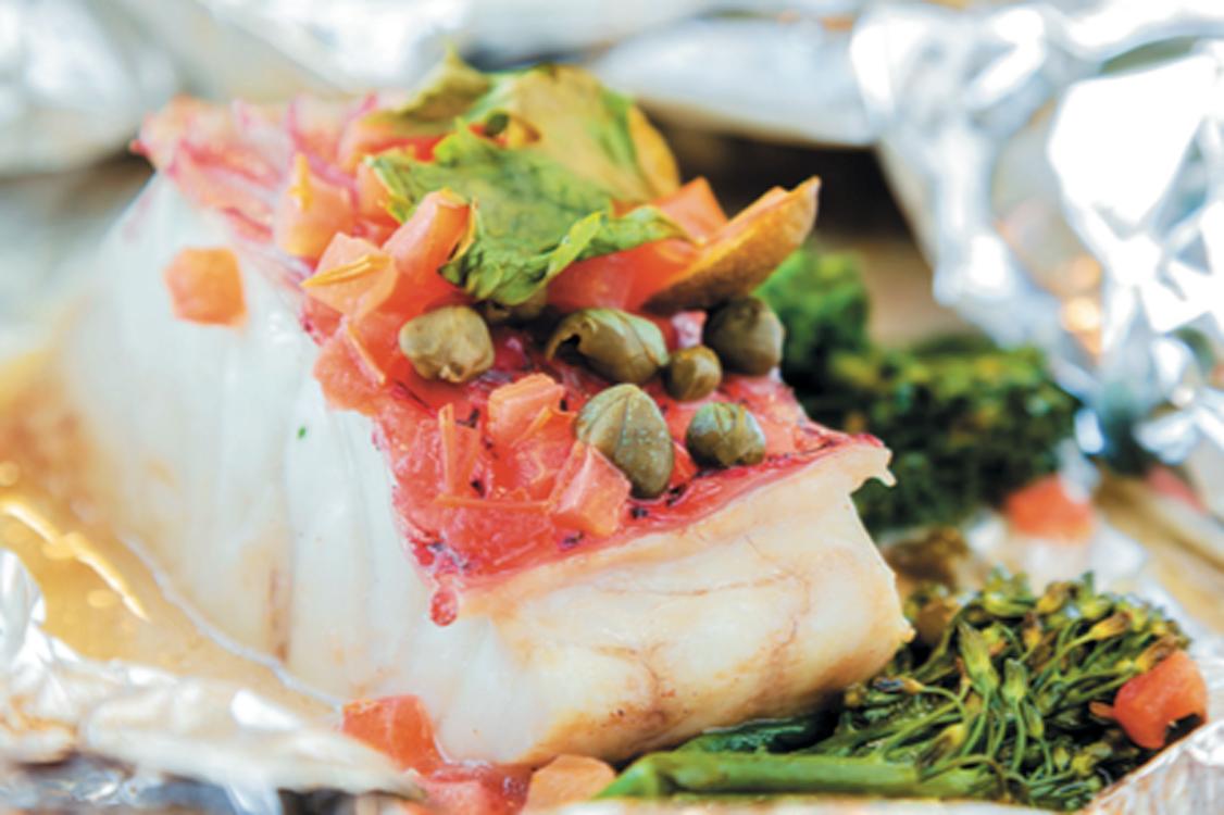 Receita de bacalhau no papelote