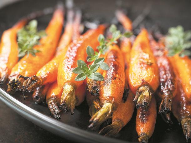 Cenouras assadas com tomilho