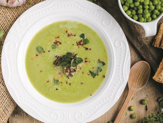 Receita de sopa aveludada de ervilhas