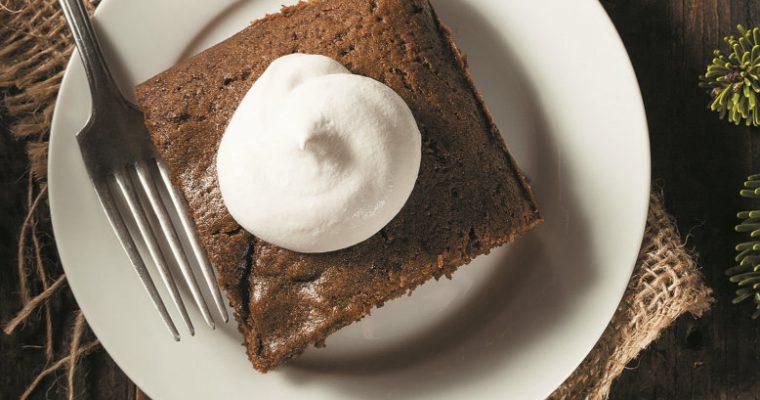 Brownie de amêndoa e canela
