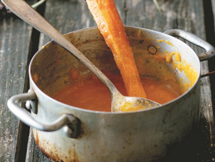 Creme de cenoura bastante saudável
