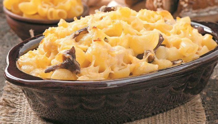 Macarrão com queijo e cogumelos: uma receita rápida e bastante saborosa