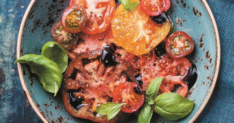 A receita de salada de tomate à minha maneira