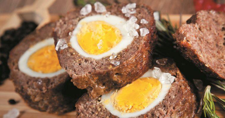 A original carne recheada com ovo