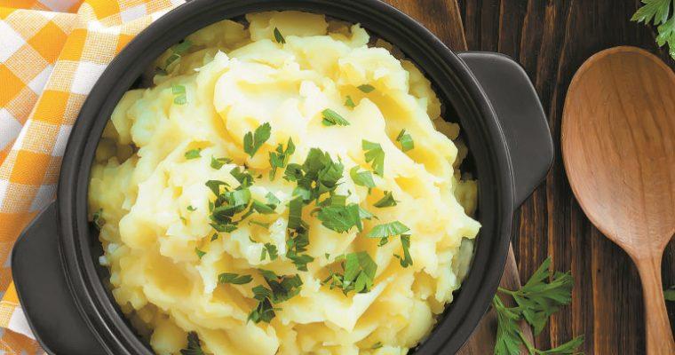 Um acompanhamento especial: puré de batata e coco