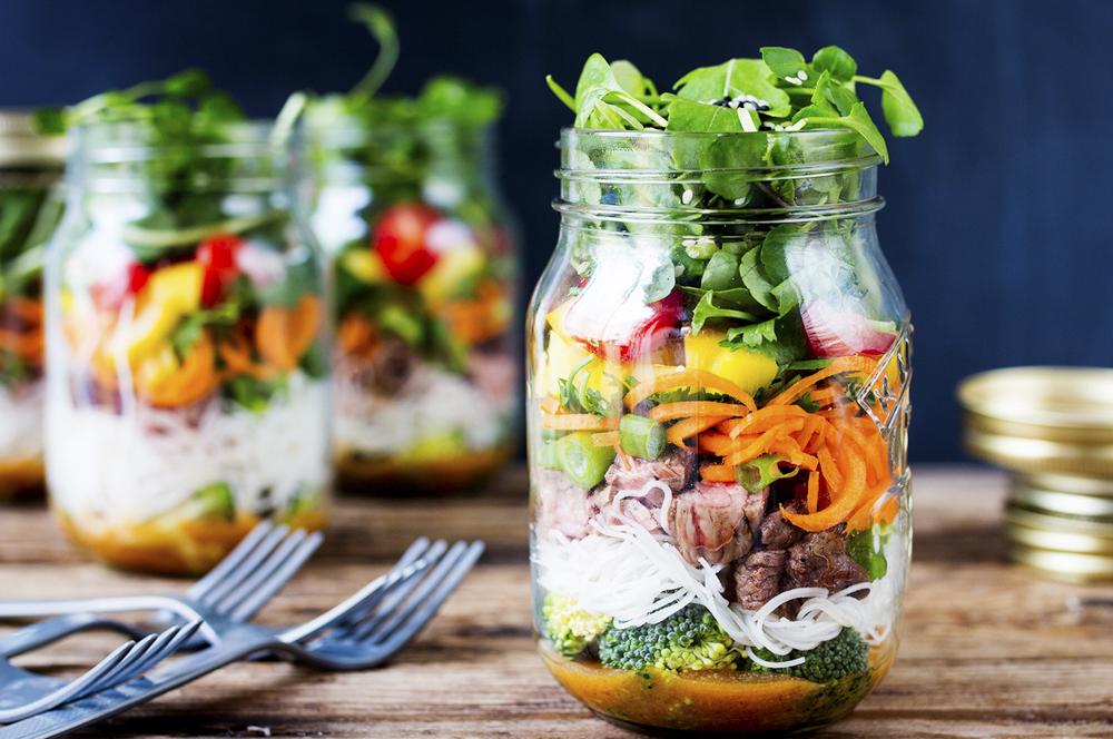 Que tal enfrascar a salada?
