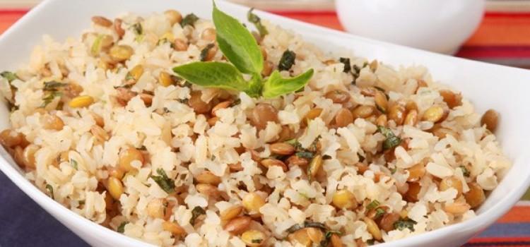 Receita de arroz de lentilhas