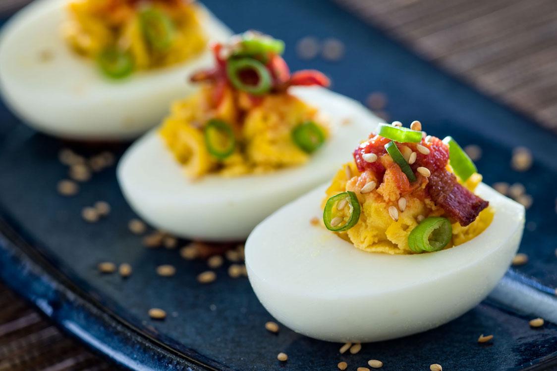 Receita de ovos recheados