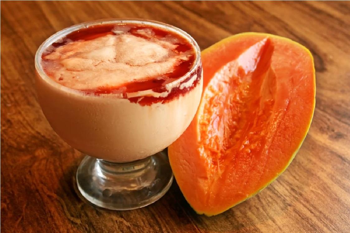 Não é leite creme, é creme de papaia