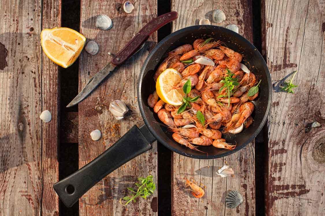 Camarão frito à moda de Espinho