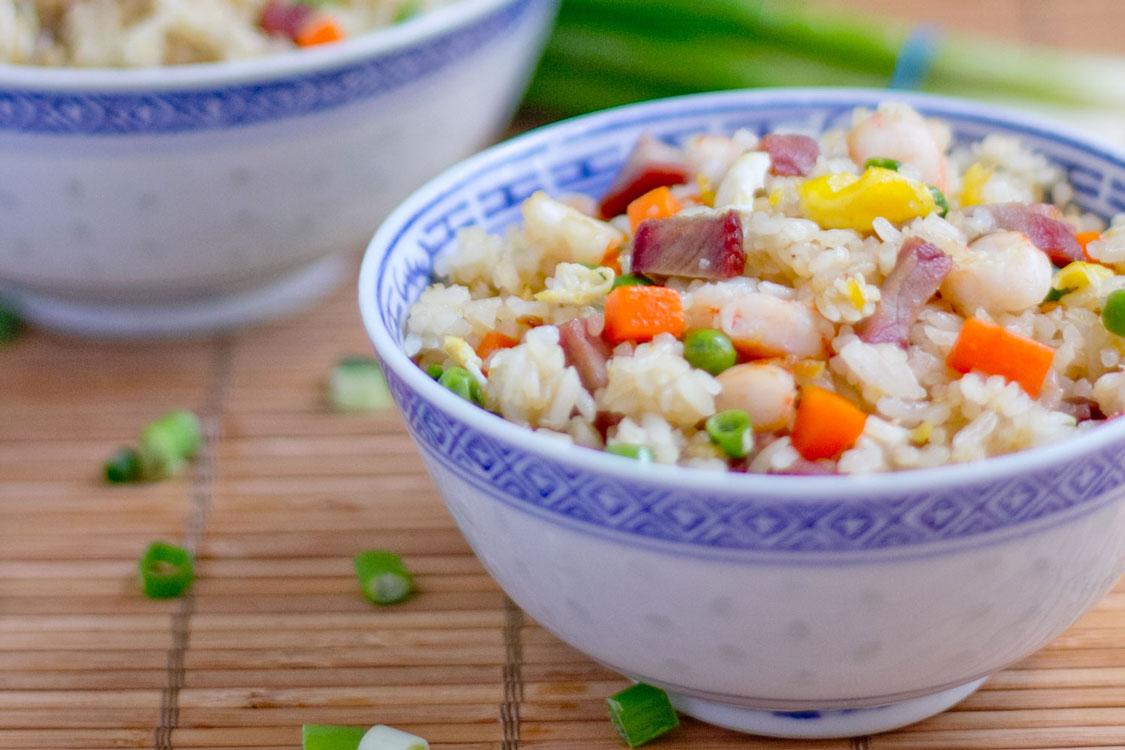 A minha receita de arroz chow chow