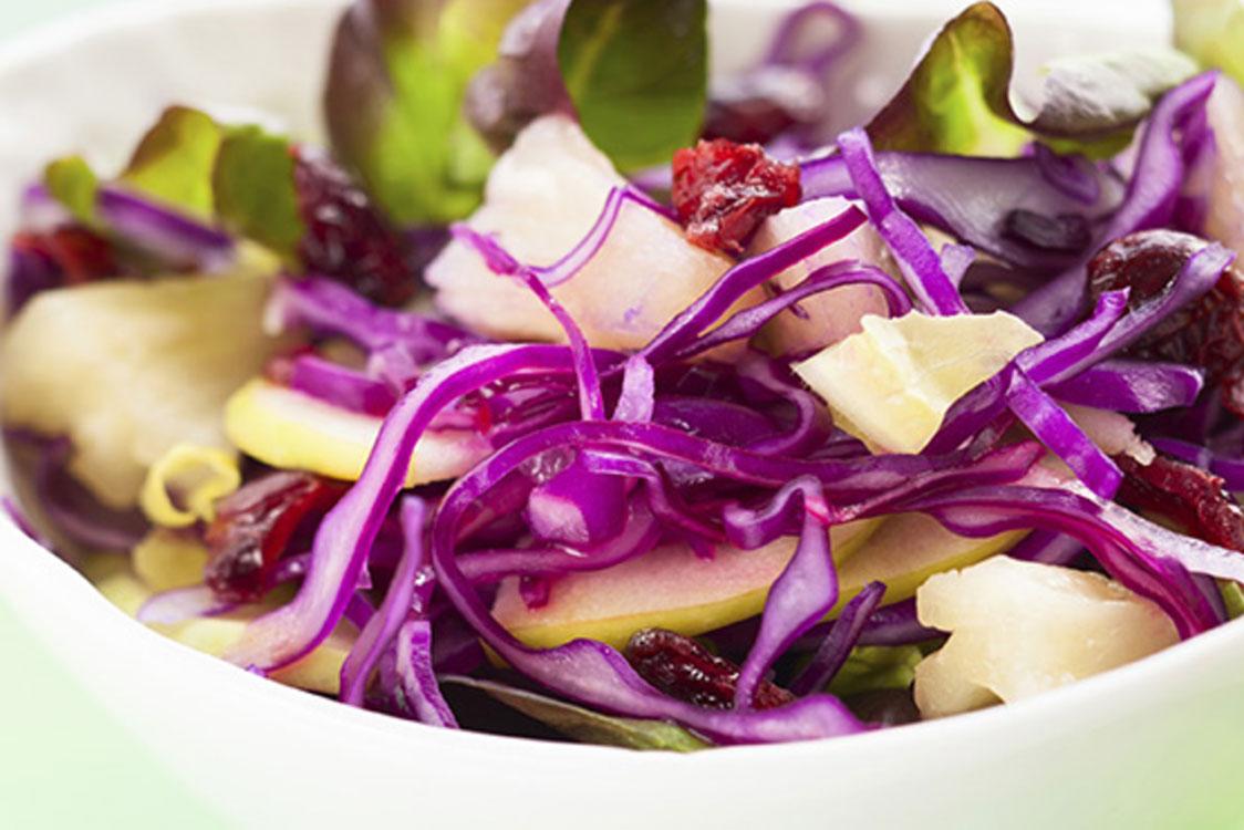 Salada de couve roxa e romã