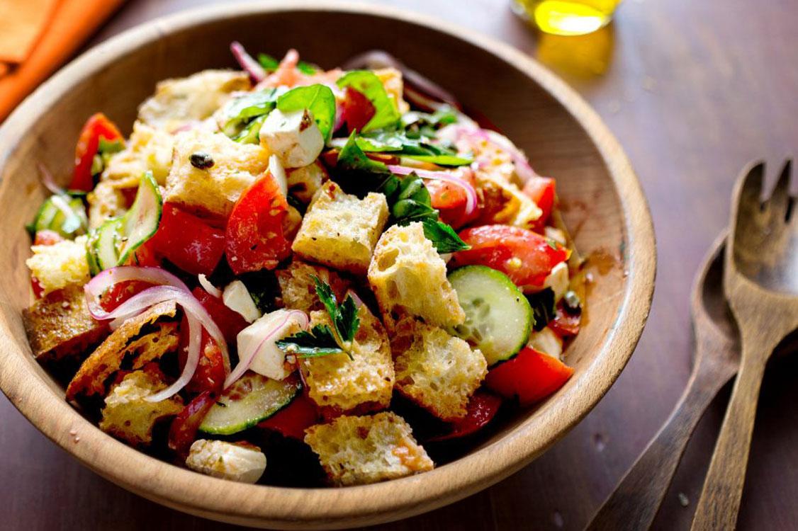 Receita italiana Salada Panzanella