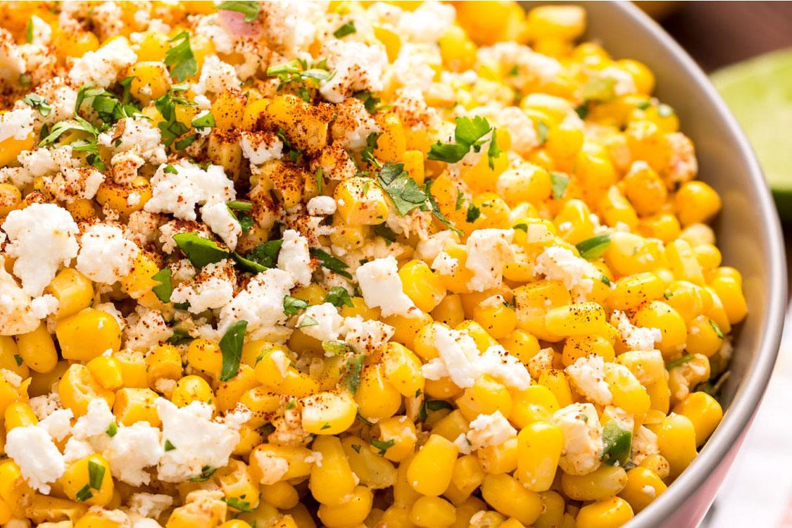 Salada de milho à moda do México