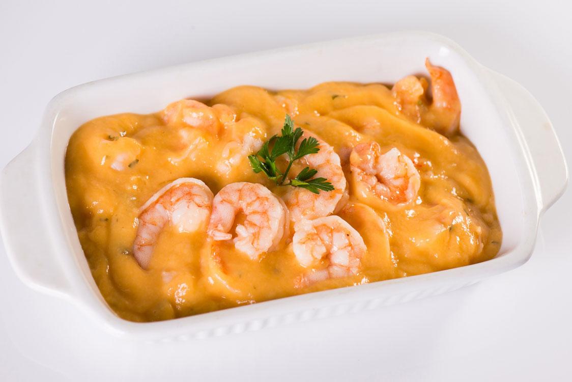 O strogonoff de camarão é uma delícia
