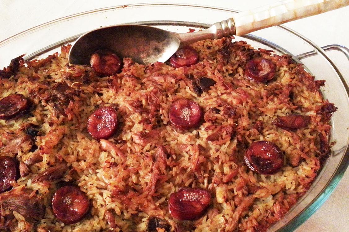 Receita irresistível de arroz de pato