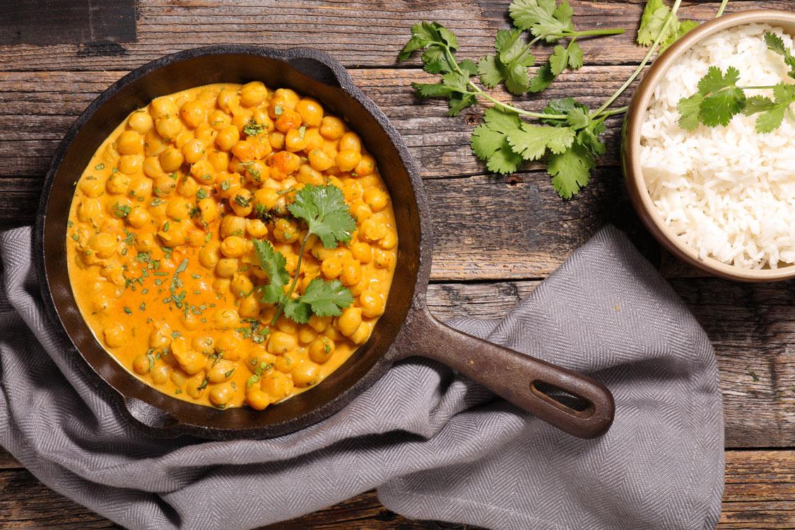 Caril de grão: um prato saboroso, aromático e vibrante!