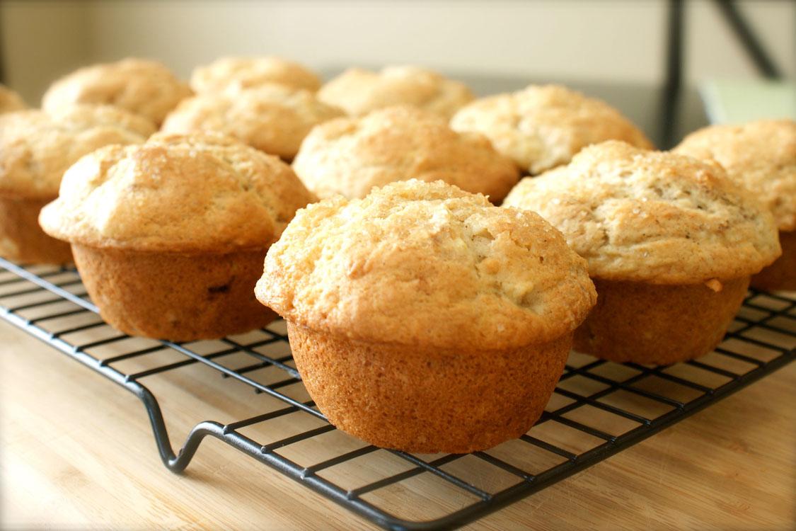 """Estes muffins de banana deixam um gosto de """"quero mais""""…"""