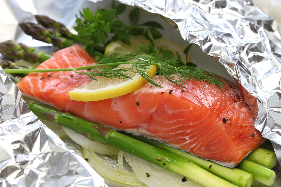 Receita de papelote de salmão
