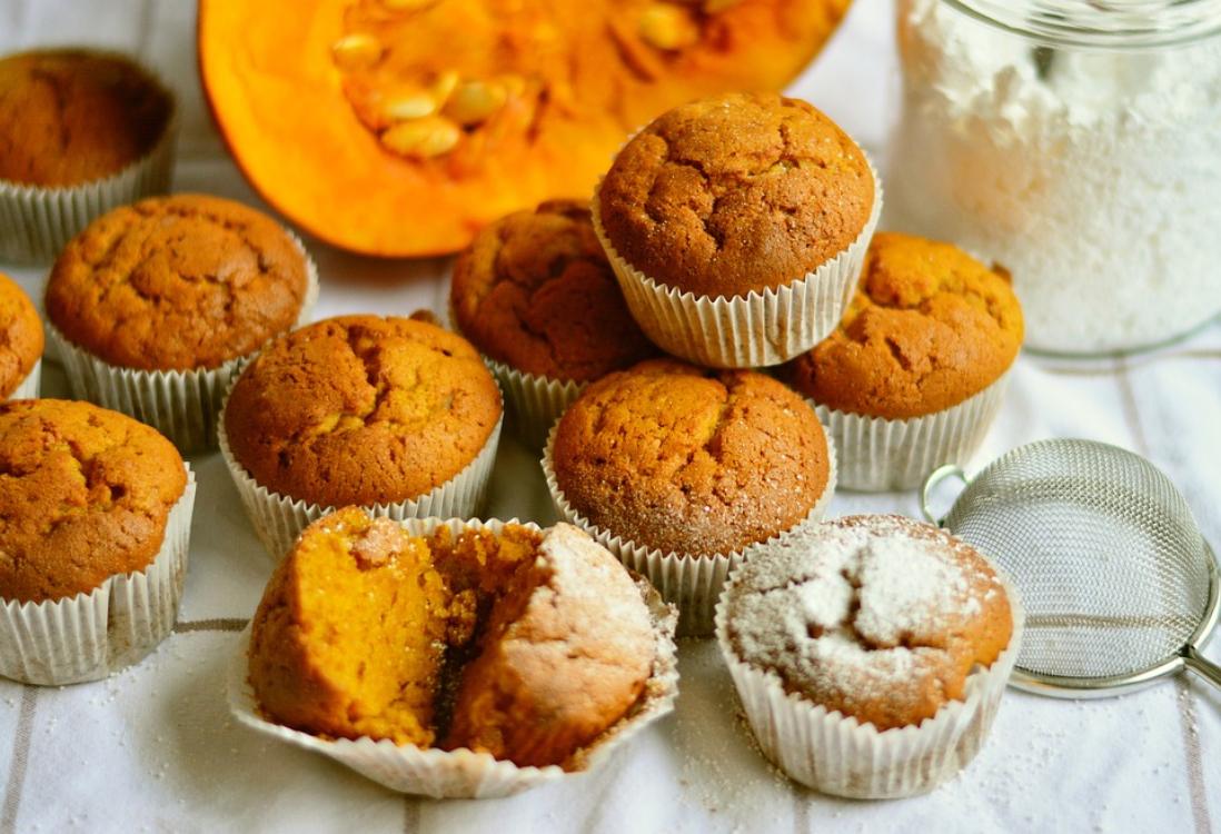 Receita de muffins de abóbora