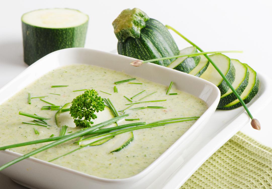 Receita deliciosa de sopa de curgete