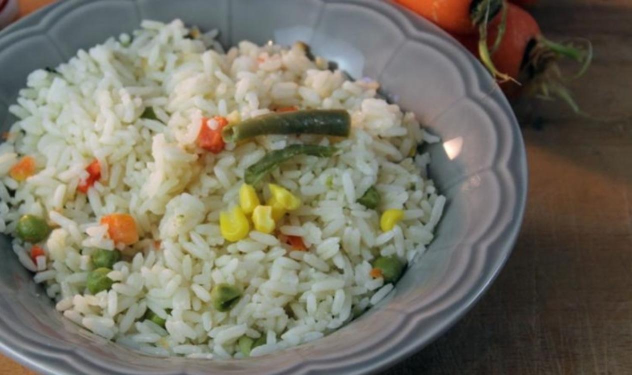 Receita rápida de arroz primavera